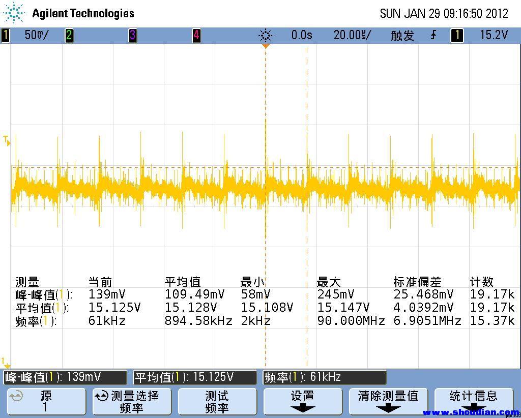 专业示波器测试电源波纹,m8电子负载