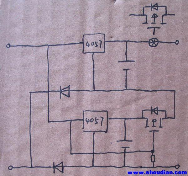 测试两串锂电的电路图