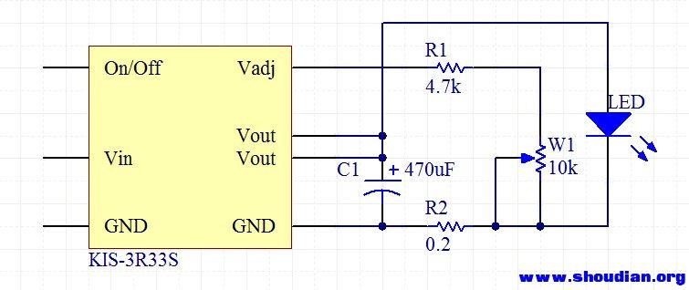 发个最简单的用3r33的led调光电路