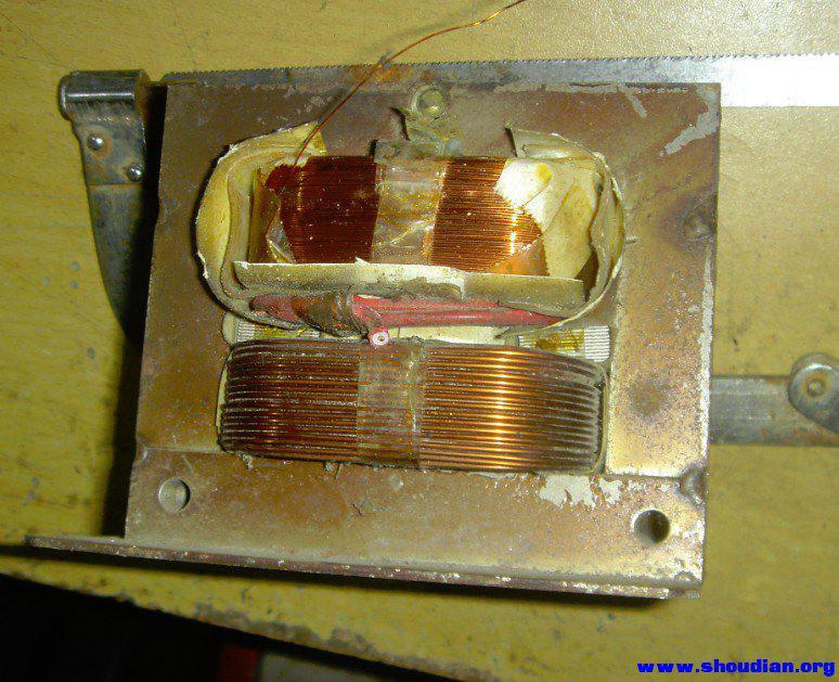 微波炉变压器diy手提点焊机