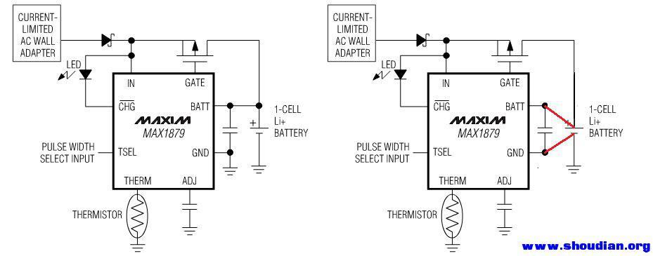 就是把电压检测和电流输入用不同的线路接到电池的正负极,这样检测到
