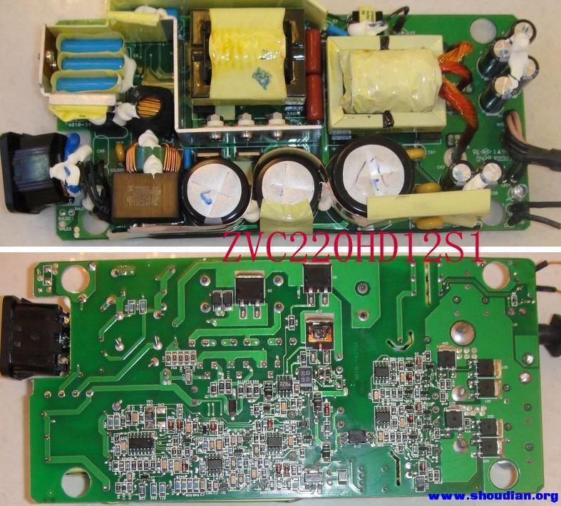 dell 12v18a 电源,三个版本电路图,求比较 分析