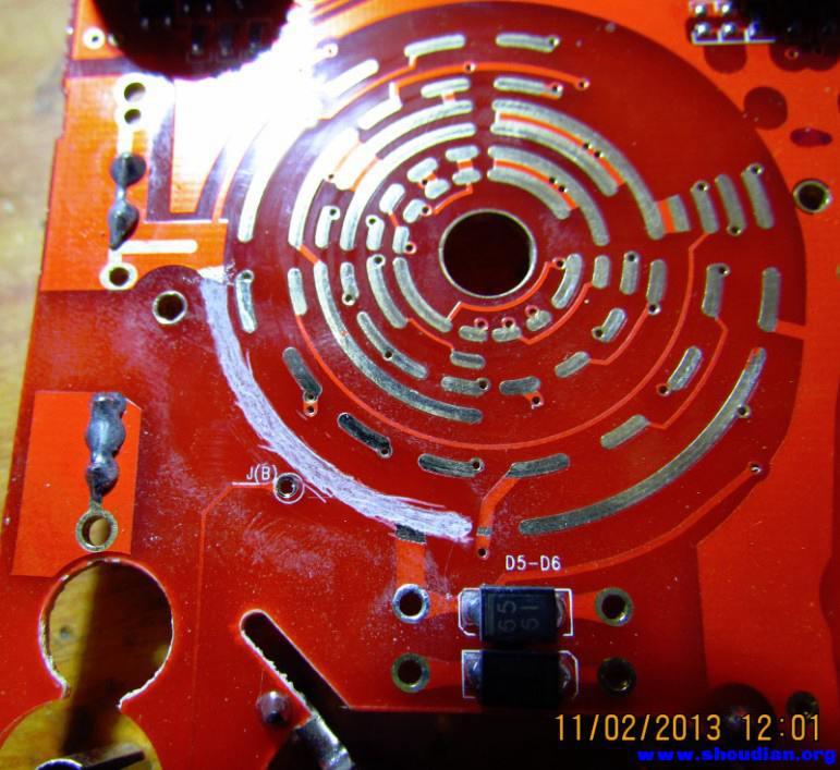 69 电池,充电器,综合diy 69 铜皮修复万用表烧焦的拨盘电路板线路