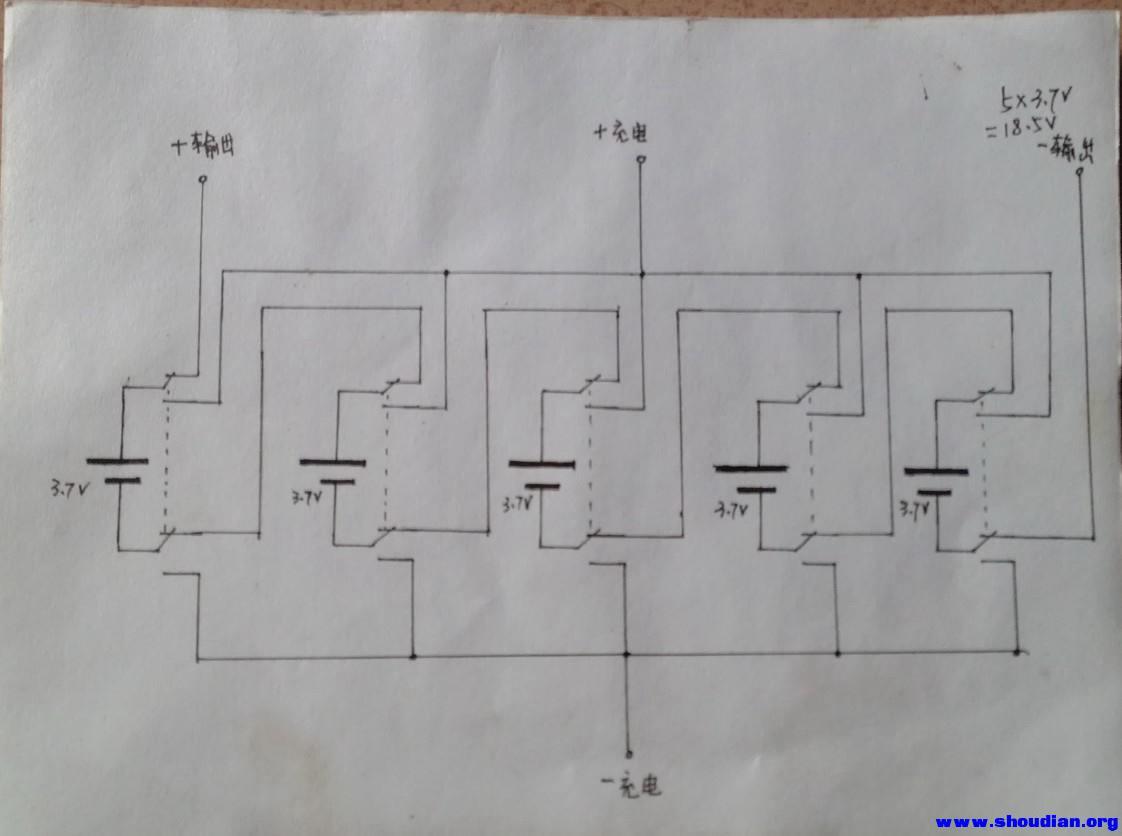 12v串联36v接线图