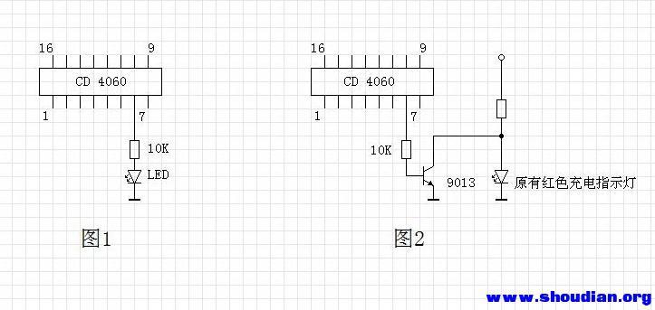 好多电动车充电器都带有由cd4060组成的定时功能(防充鼓功能)