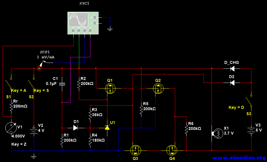 v3对应充电电源,   d_chg对应充电电路当中的防倒灌环节,x1为后续升压