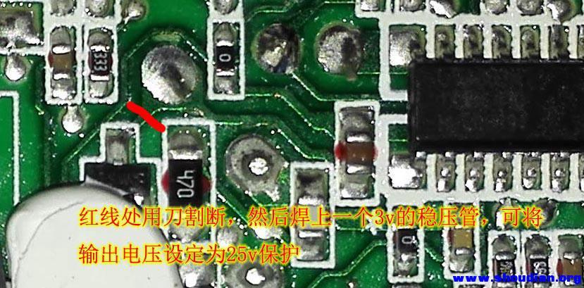 爆炸后的电路板就没有心情照相了,只有拆个粉碎算了.