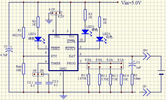 ltc1733锂电充电管理芯片(电路图 数据手册下载).