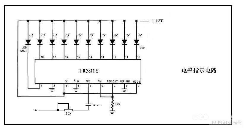 用lm3914做锂电3.35-4.15v指示电路