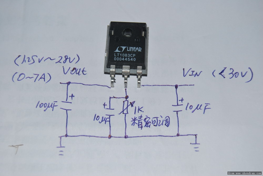 凌特7a高性能线性可调电源芯片lt1083cp