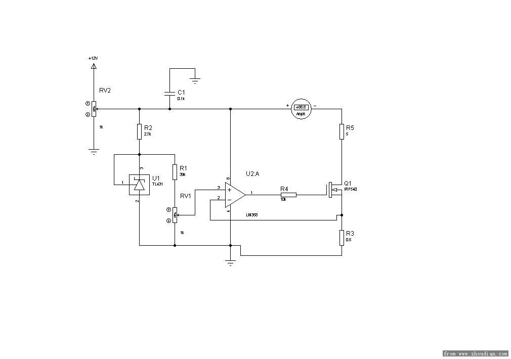 请教:lm358恒流放电电路问题