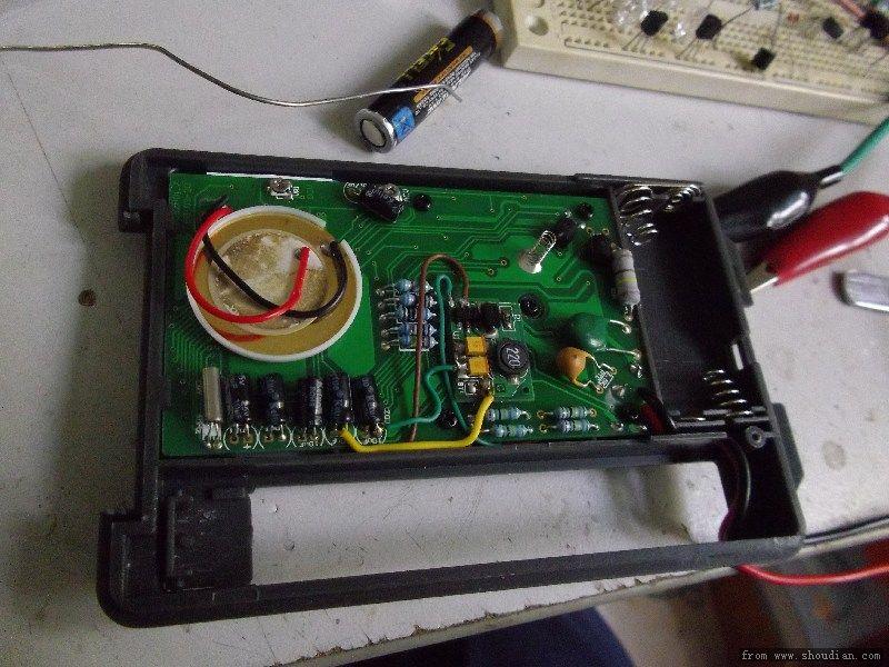 之前研究万用表多刀开关的电路走向,找到总电源控制脚位,把on脚位