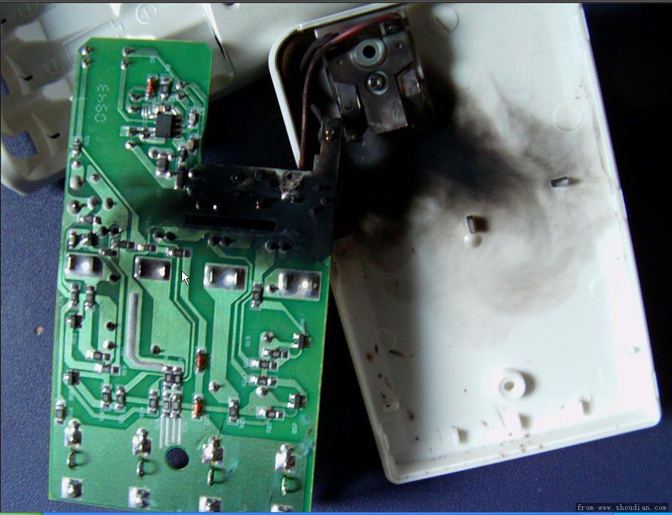 品胜ts-kc015 充电器存在严重短路烧毁问题!
