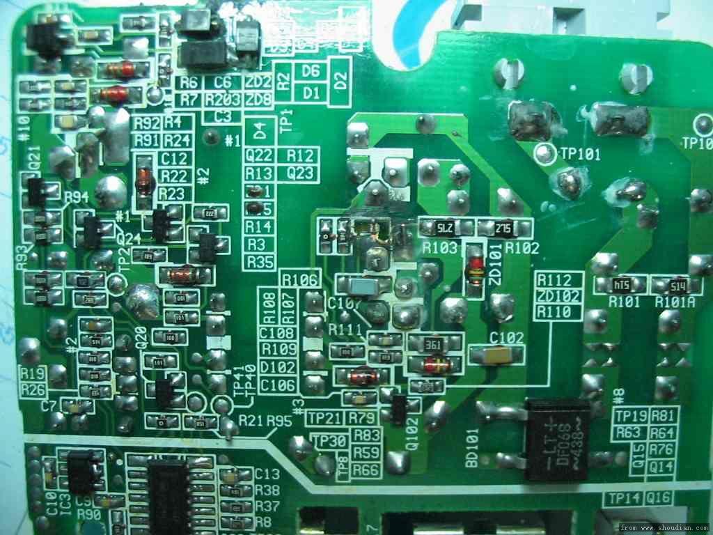sanyo m60充电器电源处一个r106贴片电阻烧掉了
