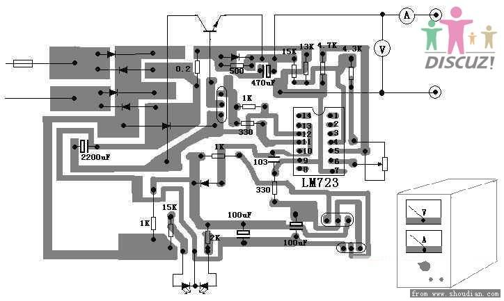lm723稳压电源问题请教